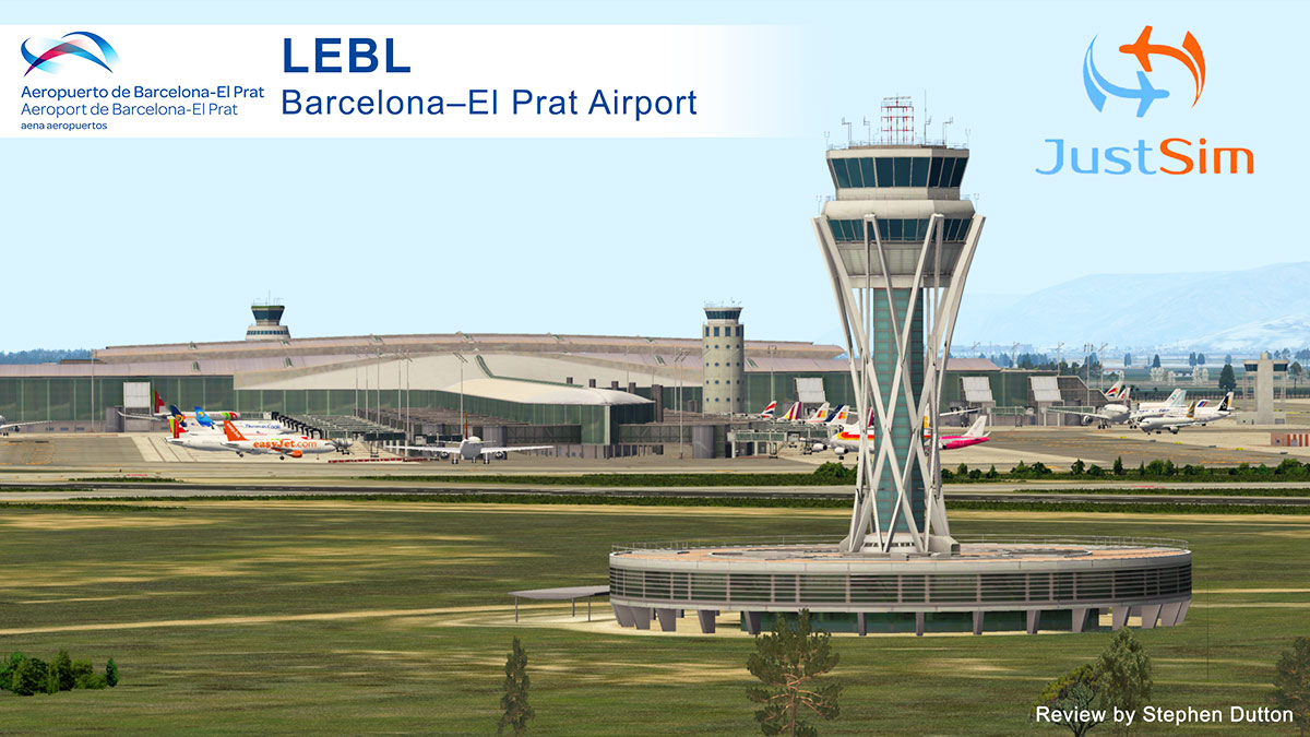 Scenery Review : LEBL Barcelona El Prat by JustSim - Payware