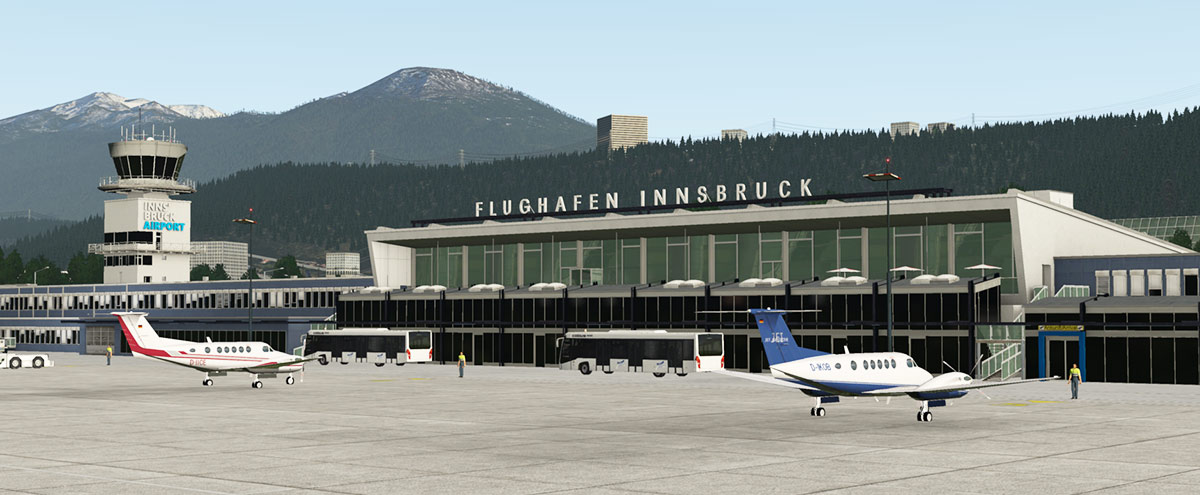 Scenery Updated to XP11 : LOWI - Innsbruck Airport by