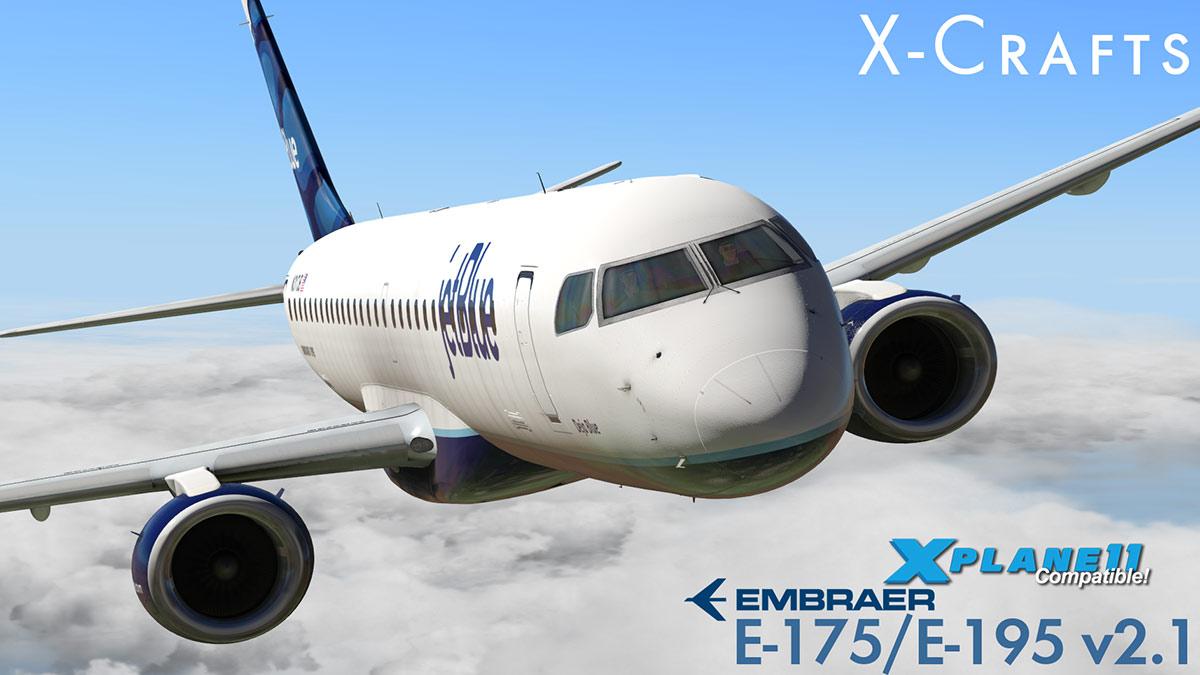 Aircraft Update : X-Crafts Embrarer E175/E195 v2 1