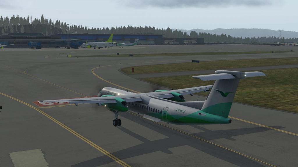 Scenery Review : ENBR - Bergen Flesland Airport by Aerosoft