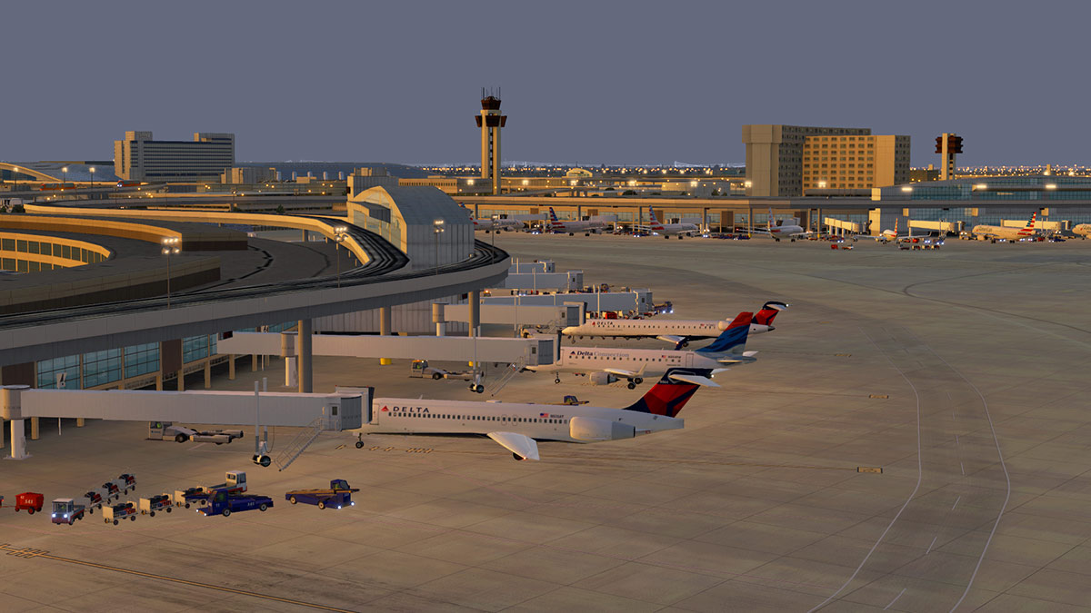 Scenery Update : KDFW - Dallas Fort-Worth v1 02 by Aerosoft