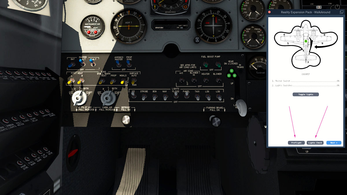 Aircraft Plugin Review : REP for Default B58 Baron by SimCoders - X