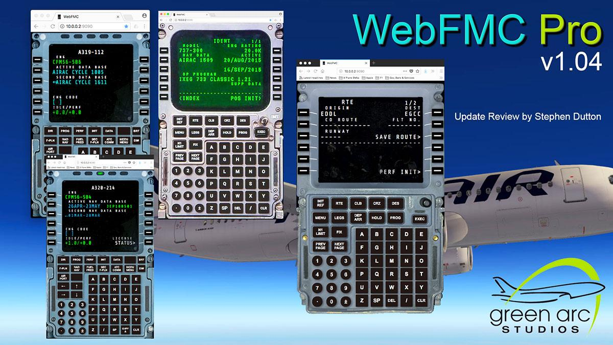 Plugin Update : WebFMC Pro v1 04 by Green Arc Studios - X-Plane