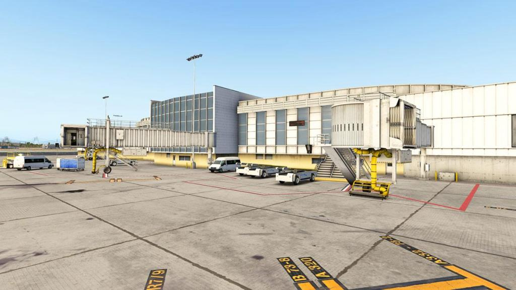 Klax airport layout