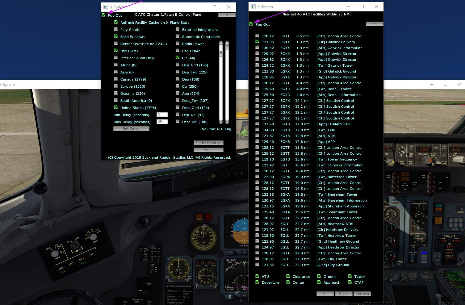 Plugin Review : X-ATC Chatter by Stick and Rudder Studios - X-Plane